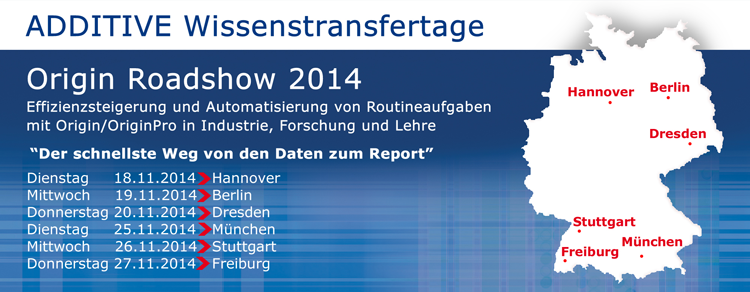 Banner ADDITIVE Origin Roadshow 2014