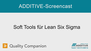 Quality Companion Screencast: Soft Tools für Lean Six Sigma
