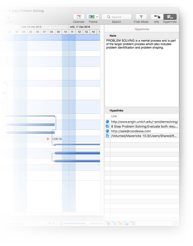 Neues Hypernote Panel in ConceptDraw PROJECT 8