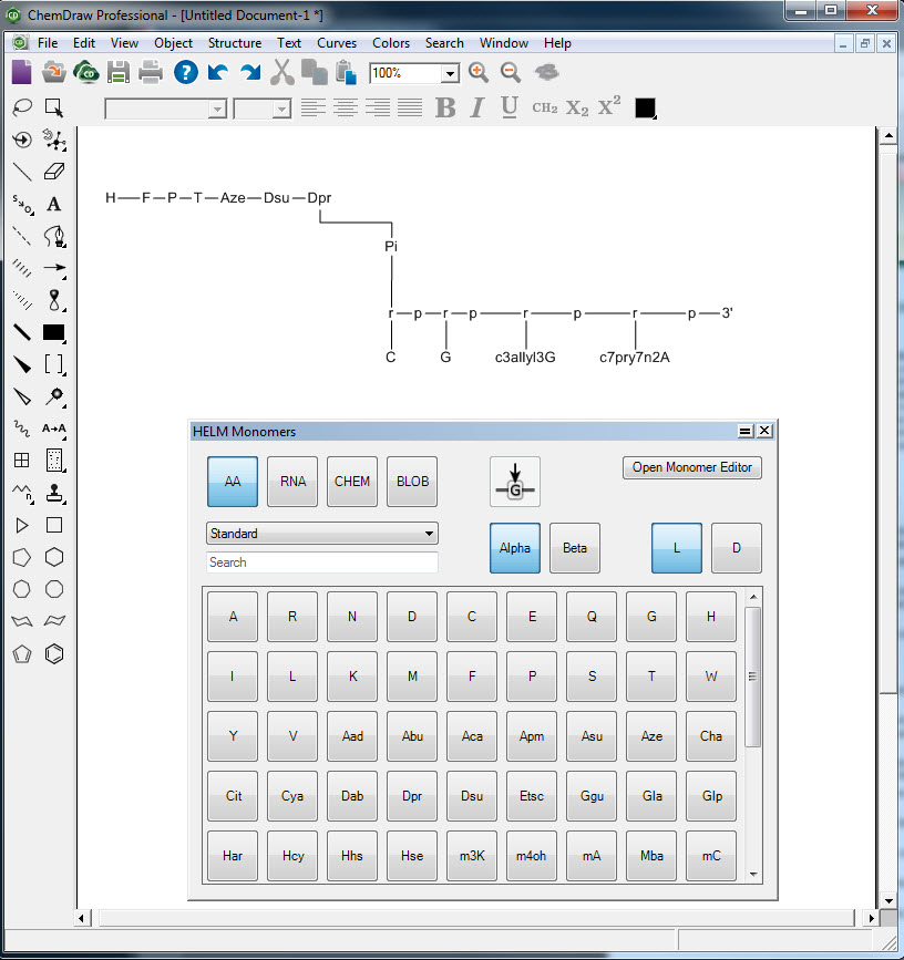 chemdraw 12.0 how to put protecting groups