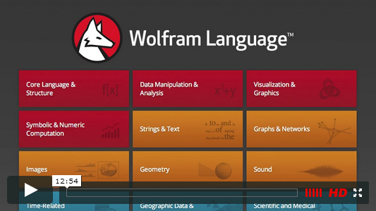 Screenshot Video: Vorstellung der Wolfram Language