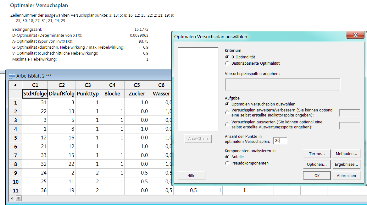 Minitab Design of Experiments