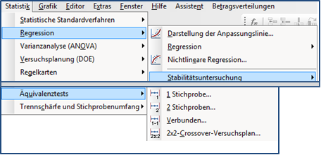 Spezielle Tools in Minitab