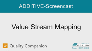 Quality Companion Screencast: Wertstromanalyse (Value Stream Mapping)
