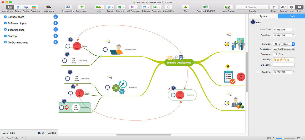 Map-Minder-Tool in ConceptDraw MINDMAP 10