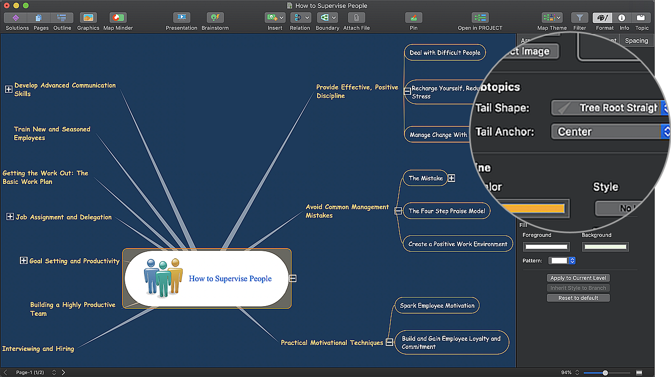 Tree Root Straight in ConceptDraw MINDMAP 11