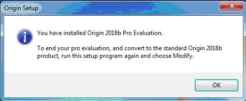 Evaluation installed