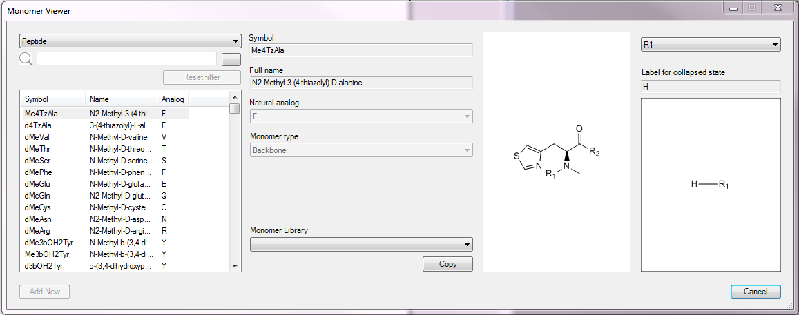 ChemDraw Professional 18: Monomer Viewer