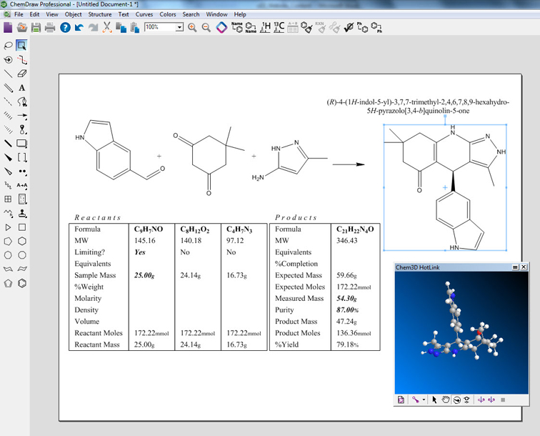 Personal productivity tools to organize and explore compounds, reactions, materials and associated properties.