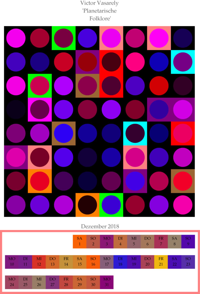Dezember 2018: Victor Vasarely-Simulation