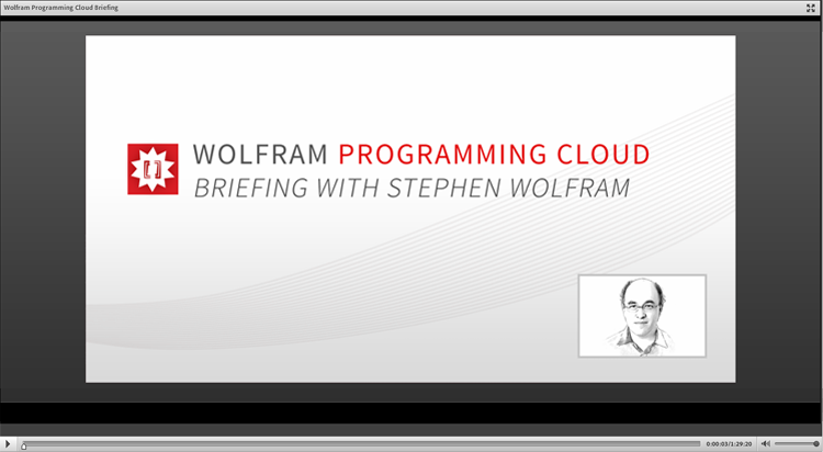 Screenshot Video: Vorstellung der Wolfram Development Platform