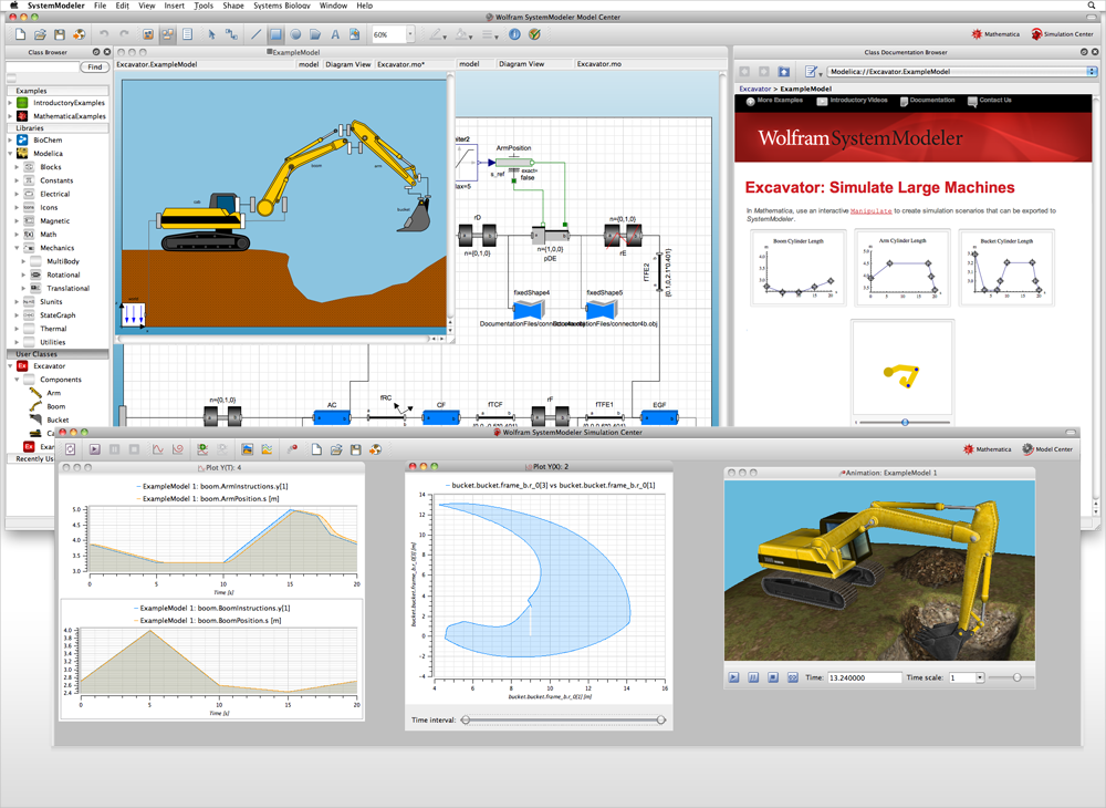 Screenshot Wolfram SystemModeler