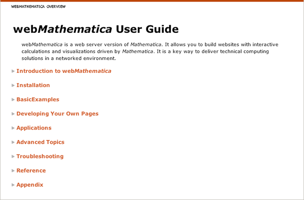 webMathematica User Guide